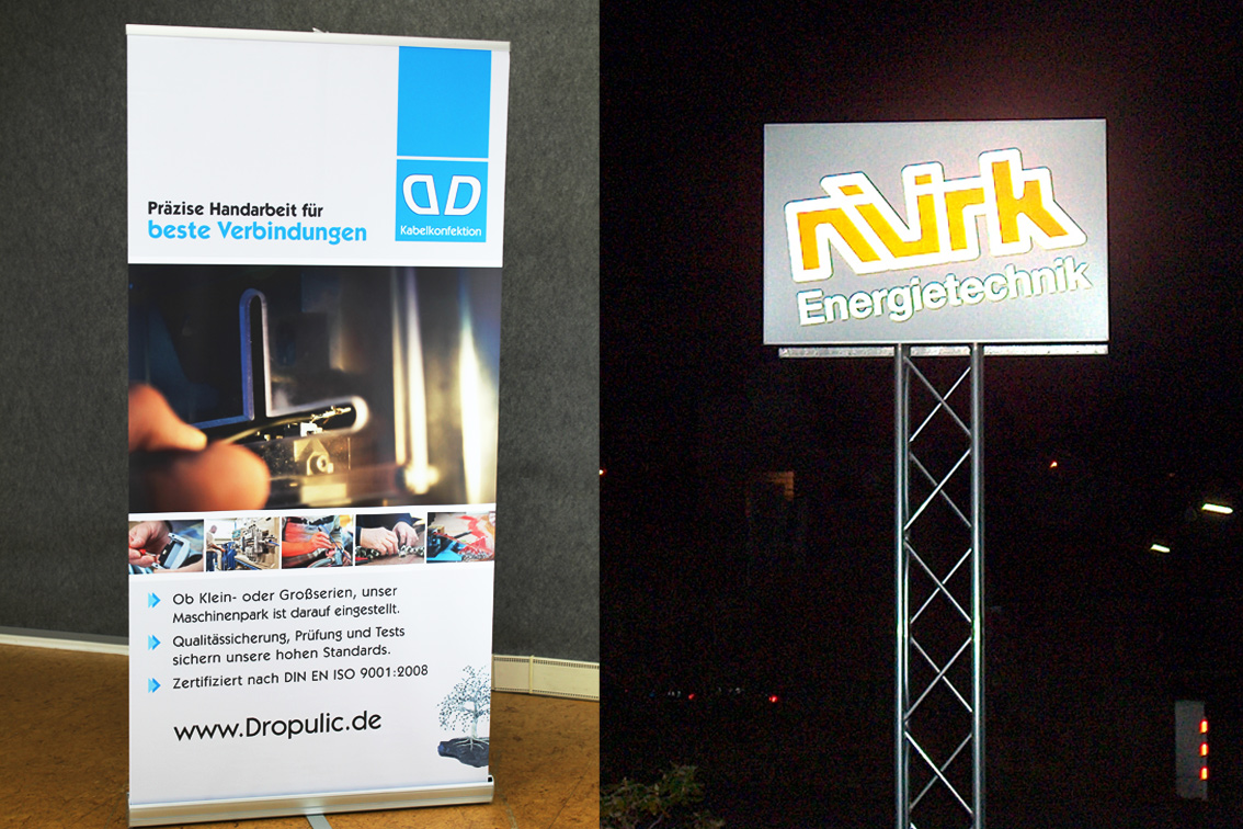 DD Roll-Up Display / Nürk Energietechnik Leuchtreklame-Wa-Priss