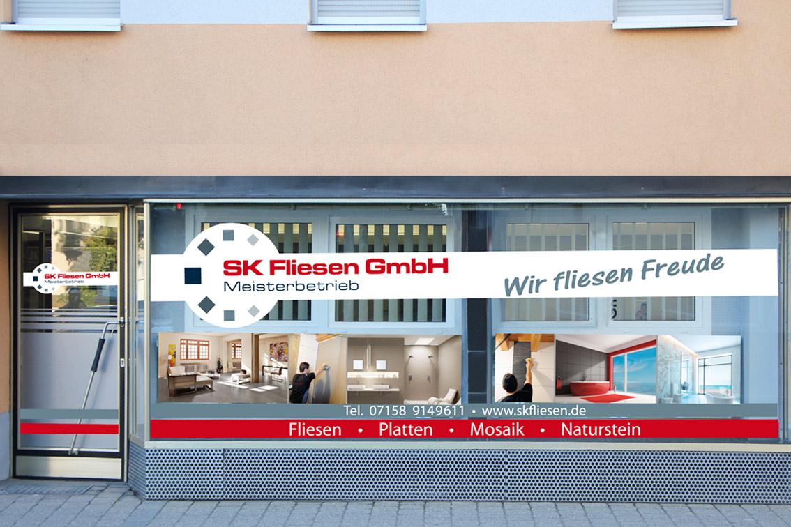 SK Fliesen Schaufensterwerbung-Werbeagentur-Priss