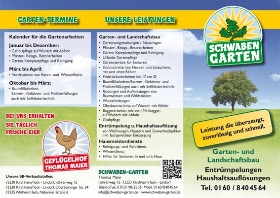 garten und landschaftsbau flyer – tiedweb, Garten und Bauten